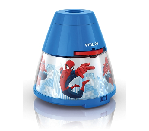 Proiector și lampă de veghe 2 în 1, Spiderman 3xLED/0,1W si 0,3W, IP20, Philips 0