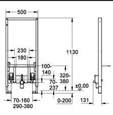 Cadru metalic universal pentru instalare bideu 1