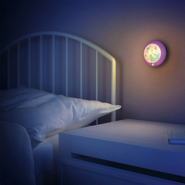 Lampa de noapte, Disney Princess, Light-up LED, Philips