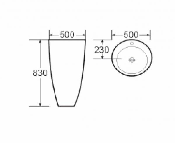 Lavoar freestanding Coconut Foglia