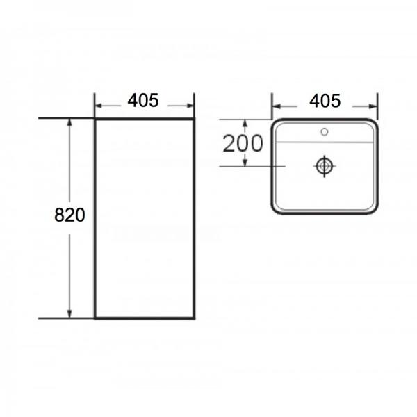 Lavoar freestanding Corso Foglia 1