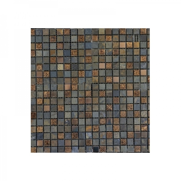 Mozaic imperial Nepal bronze din piatra, 8mm, 30x30 0