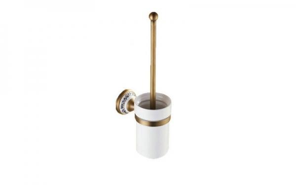Perie cu suport pentru vasul de toaleta, culoare antichizata, Foglia 0