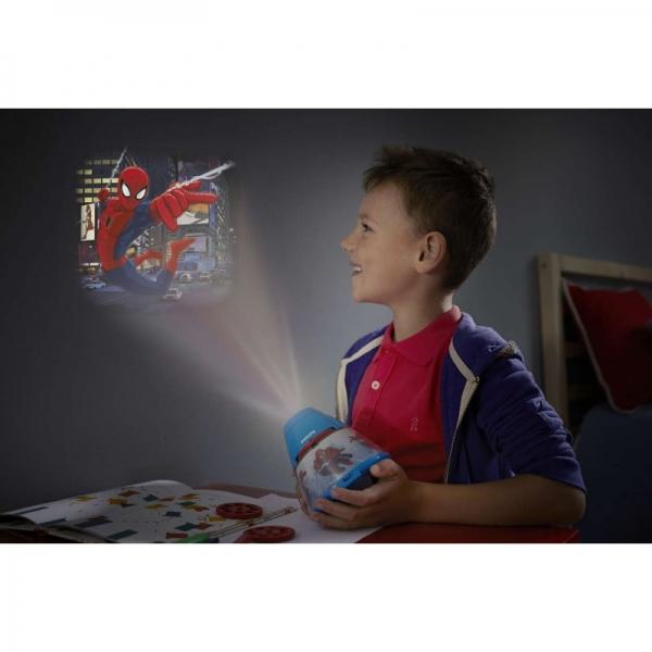 Proiector și lampă de veghe 2 în 1, Spiderman 3xLED/0,1W si 0,3W, IP20, Philips 1