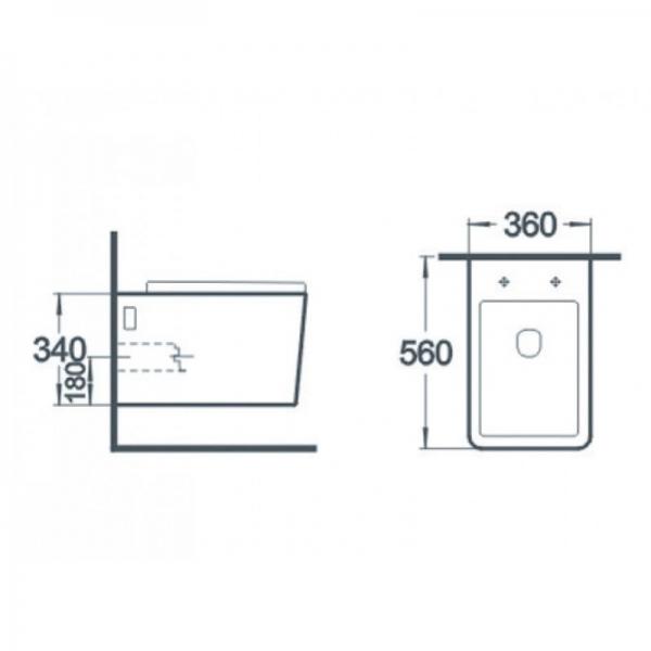Vas wc suspendat Square cu capac soft close inclus 1