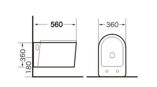 Vas wc suspendat Rimless cu capac soft close inclus 1